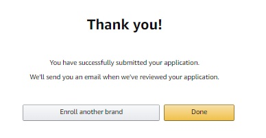 Application has been submitted successfully