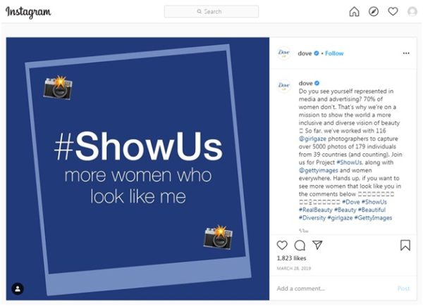 #ShowUs campaign from Dove
