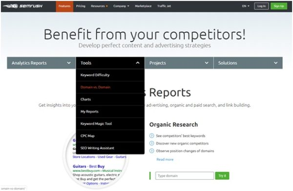 Pull insights from your competitors